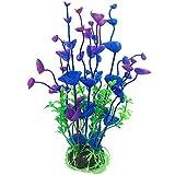 Ruluti Plantas 1pc Acuario De Plástico Decoraciones del Acuario Coral Artificial Adornos Submarino Mascotas Decoración Azul Y Púrpura