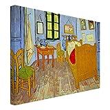Bilderwelten Cuadro en Lienzo - Vincent Van Gogh - El Dormitorio en Arlés - Apaisado 3:4, Cuadro Lie...