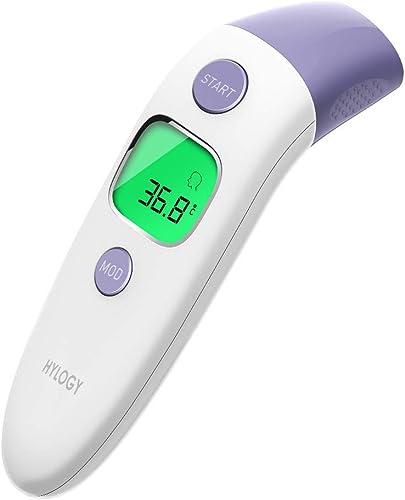 Haorw Fieberthermometer Stirnthermometer Infrarot Thermometer F/ür Babys Erwachsene Und Objekte 1 Sekunde Messzeit Bereich 32~42 ℃