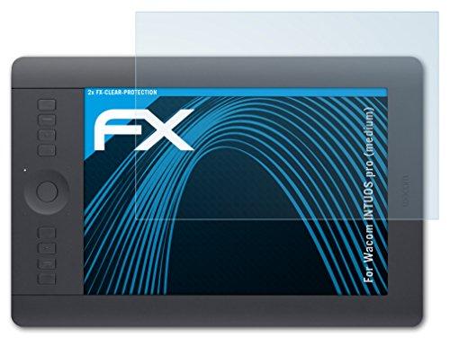 atFolix Schutzfolie kompatibel mit Wacom INTUOS pro (medium) Folie, ultraklare FX Bildschirmschutzfolie (2X)