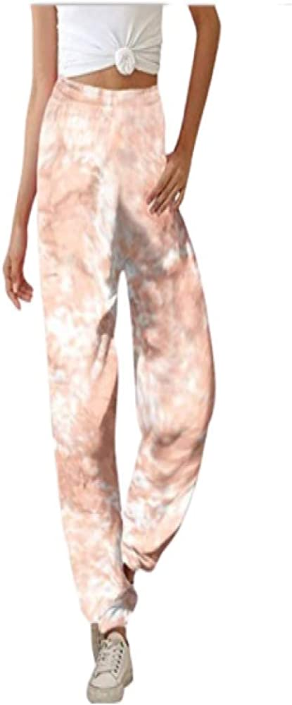 brandless Women's Summer Casual Pants Personality Tie-dye Gradient Color Fashion