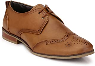Levanse Brown Color Designer Leather Corporate Casuals Shoes for Men/Boys.