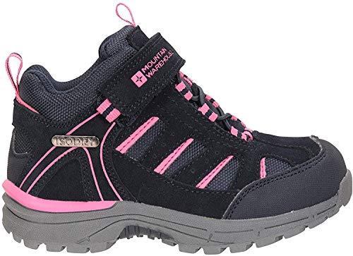 Mountain Warehouse Drift Junior Stiefel für Kinder - Wasserfeste Wanderstiefel, strapazierfähig, atmungsaktiv,mit griffiger Sohle Marineblau Kinder-Schuhgröße 29 DE