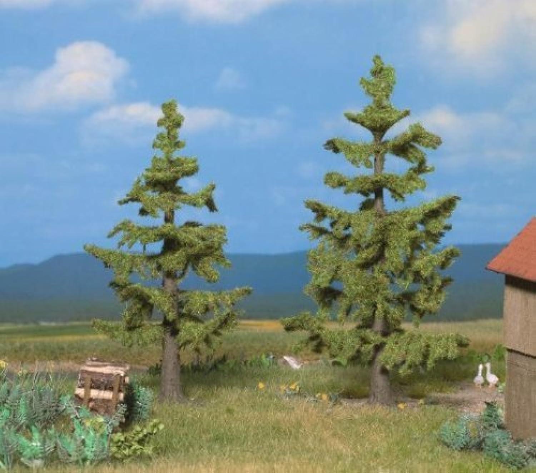 All Scale Profi Series Coniferous Trees  Spruce 41 4 & 47 8 11 & 12.5cm Tall pkg(2) by Noch