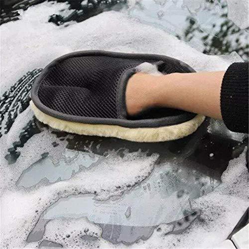 2 pcs Multi Purpose Car Cleaning Sponge Glove Microfiber Car Wash Glove Cloth for Car Washing Dust Windows, Car Wash Mitts Polishing Cloth