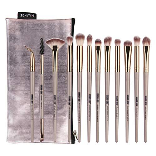 Weant Pinceaux Maquillage Professionnel 12 Pièces Cosmétique Pinceaux Kit Pour Liquide Poudre Crème Fusion de Fond de Teint Concealer Eye Visage Synthétique Pinceaux de Maquillage