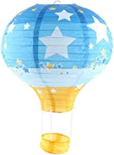 Pack of 3 Hot Air Balloon Paper Lantern Wedding Party Decoration Craft Lamp Shade (Star Blue, 10