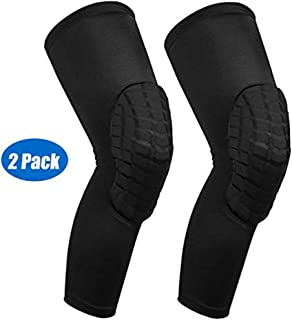 IULONEE Knee Pads 1Pair, Knee Support Sleeve Protector Brace Anti-Slip Patella Stabilizer Leg Sleeves for Women Men Outdoor Sports Climbing, Riding, Volleyball, Basketball, Football