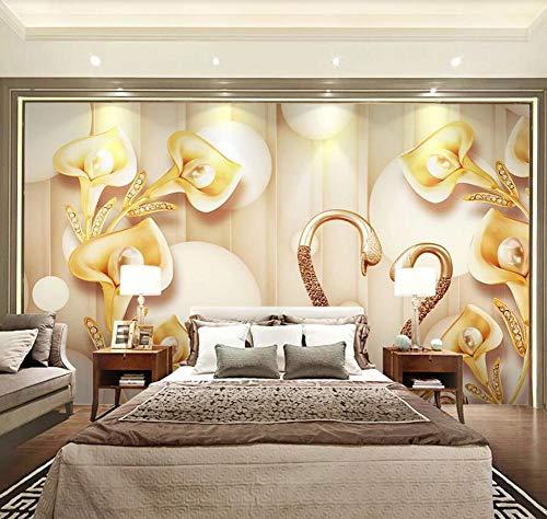 3D Papel Pintado Pared Infantil Vintage Flores pintura de la pared del...