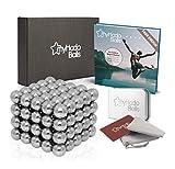 myHodo Magnetkugeln Set inkl. Ebook und Premium Zubehör, 100 Stück (5mm, Silber), Stresskiller und...
