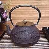Infuser Teapot Ceramics Tetera de Hierro Fundido de 1,2 l con...