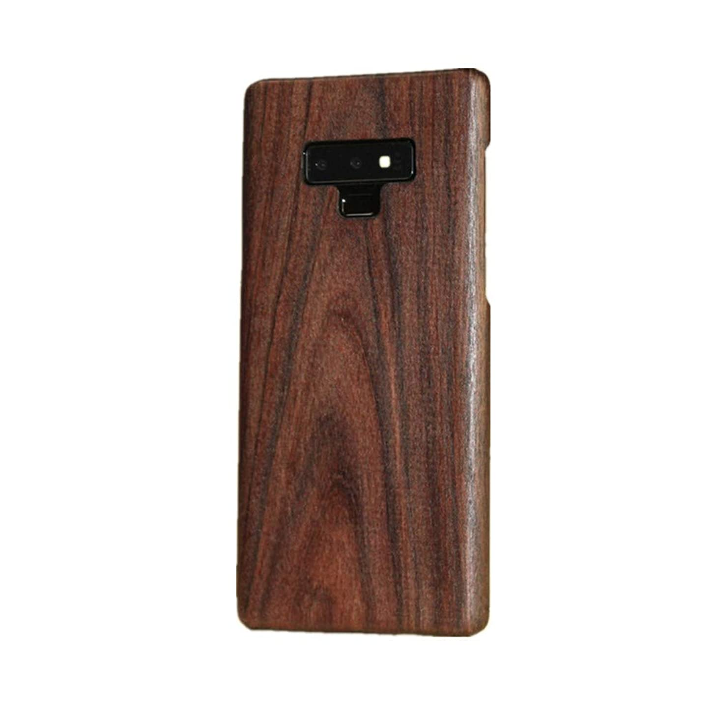 for Samsung Galaxy Note 9 Wood Case,DAYJOY Luxury Ultra Thin Ultra Light Genuine Real Wood Wooden Shockproof Hybird case Cover for Samsung Galaxy Note 9(E)