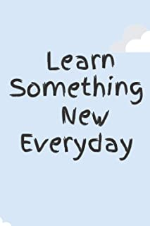 Learn Something New Everyday: Book New Year New Me    New Year Resolution Journal / Notebook   6X9 -- 120 Page Diary To Wr...
