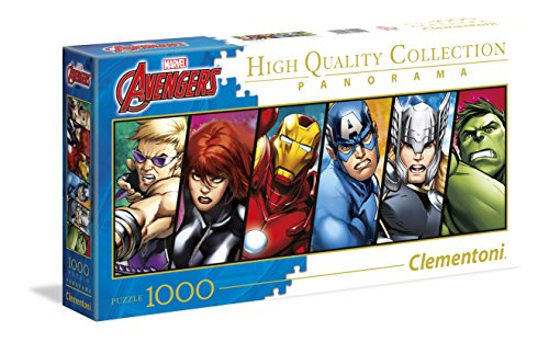 Clementoni – Disney Panorama Collection The Avengers Puzzle, 1000 Piezas (39442