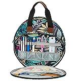 su-luoyu Bolsa para kit de bordado, tela Oxford impermeable portátil, accesorios de punto de cruz, bolsa de bordado, bolsa de bordado, hilo de colores, hilo de bordar y otros kits de bordado.