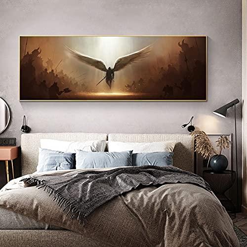 El Arcángel de la justicia Juego Tyrael Wings Ángel Lienzo Pintura Arte de la pared Póster Impresiones Dormitorio Sala de estar Sala de juegos Studio Club Decoración para el hogar Mural