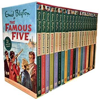 Enid Blyton Famous Five Series 21 Books Box Collection Pack Set  Complete Gift Set Collection