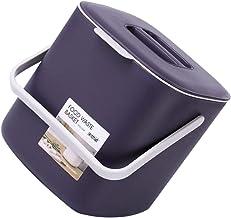 YARNOW Table Trash Can Compost Bin Mini Wastebasket Trash Can Easy- clean Trash Can Countertop Garbage Can For Bathroom Va...