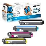 LOSMANN 4x Compatible Brother TN241 TN245 TN242 TN246 Cartucho de Tóner para Brother DCP-9020CDW DCP-9015CDW HL-3140CW HL-3150CDW HL-3170CDW MFC-9130CW MFC-9140CDN MFC-9330CDW MFC-9340CDW