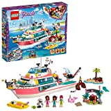 Lego 41381 Friends Boot für Rettungsaktionen und Legoinsel, Spielzeug für Kinder mit den Minipuppen Olivia, Andrea und Mia, Plus Roboter und Wal-Figuren, Set zur Meeresrettung