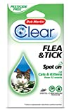 Bob Martin Clear Flea and Tick Spot On for Cats & Kittens From