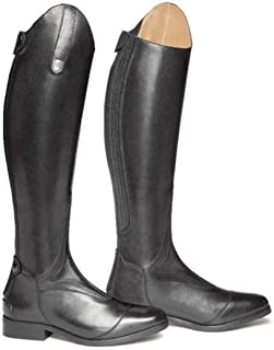 Women Rider Horse Riding Boots Smooth Leather Knee High Boots Warm High Boots