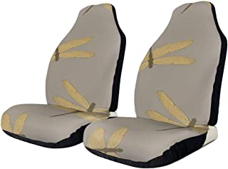 Dragonflies Fashion Front Seat Cover For Cars Trucks Pad Mat Blanket For Auto Chair Protection Driver Set Of 2