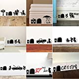 fantastic me 9pcs Mixed Pack Cute Mouse Hole Wall Stickers Playing Nursery Room Wall Corner Decoration DIY Home Decal Animal 3D Mural Art