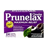 Prunelax Ciruelax Natural Laxative Maximum Relief Tablets, 24 Count