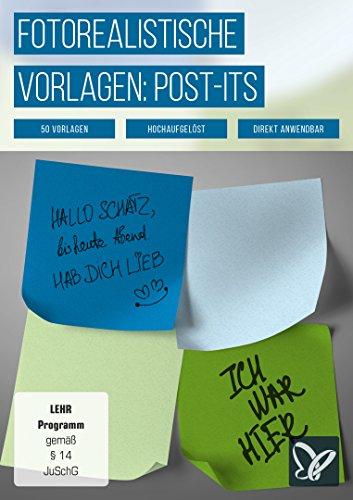 Post-its und Klebezettel: fotorealistische Vorlagen