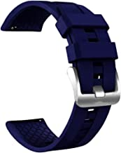 Silicone Watch Band Replacement Wrist Strap For Huawei Watch GT Active 46mm Honor Magic (Dark Blue)