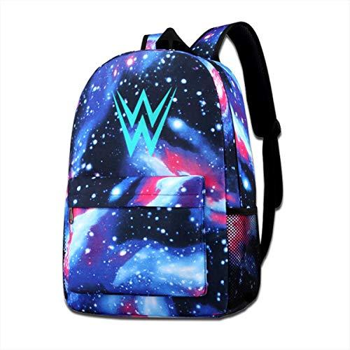 WWE Galaxy Schoolbag Pencil Case,Unisex Casual School Bookbag Daypack Travel for Students Girls&Boys