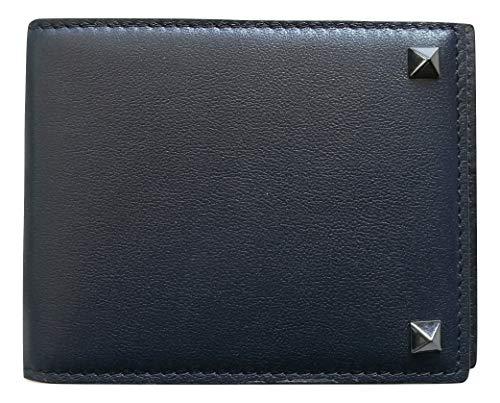 VALENTINO GARAVANI portafoglio portacarte di credito con ferma soldi PY2P0P32VH3 M30 blu