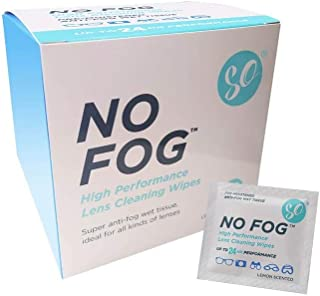 100 Pack Anti Fog Cleaning Wipes, Suitable for All Types of Lenses, Gl and Spectacles, Up to 24 Hours Protection Against S...