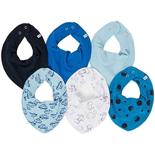 Care Fazzoletto da Collo per Bebè, pacco da 3 o pacco da 6, Multicolore (Light Dusty Blue 710), Unica (Taglia Produttore: OneSize), Pacco da 6