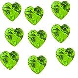 Corazón de piedra Natal - agosto 5 mm encanto flotante se ajusta la memoria de estar virutas y búho estilo Origami virutas