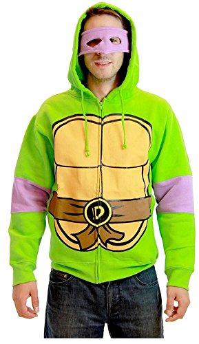 Teenage Mutant Ninja Turtles Costume Donatello Sweat à capuche pour adulte (taille S)