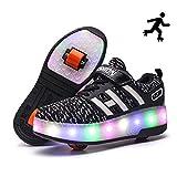 Sunflower Kinderrollschuh-Schuhe LED Leuchten LED Leuchtschuhe Mit Rollen Rad-Schuh-Mode-Turnschuh-Mädchen-Jungen-bequemen Ineinander...