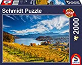 Schmidt six star premium quality 2,000 piece jigsaw puzzle Stunning picturesque image of multiple vineyards overlooking a lake. Snug fitting, varied, extra thick and smooth edged pieces A perfect gift for any puzzler aged 12 and up The completed puzz...