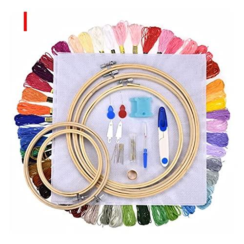 Letaowl Kit Inicio de Bordado Magic Bordery Punch Punch Kit Kit de Agujas Artesanal Bordado Hilos Cross Stitch Bordado Hoop DIY Tejer Herramientas de Accesorio de Costura (Color : I)