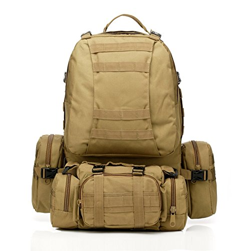 C ☯ H étanche amovible multifonctionnel extérieur Sac à dos d'Alpinisme militaire MOLLE Tactical Assault Sac à dos Sac à dos pour la randonnée Camping Trekking d'escalade, color 11