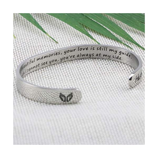 Memorial Gifts for Loss of Mother loss of loved one Memorial Bracelet Grief Jewelry Sympathy Cuff Remembrance Bangle