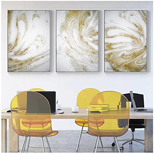 Pintura de arte de lujo dorado, cuadro de arte de pared, póster abstracto e impresión, pintura en lienzo de arena dorada para la decoración del hogar de la sala de estar