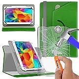 N4U Online Various Bunte Glas Schutz und Rotierend PU Leder Hülle für hp pro Tablet 608 G1 Tablett - Grün