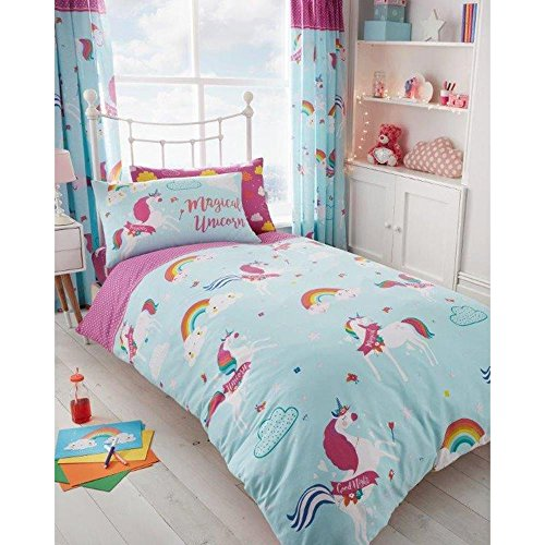 Unicorn Clouds Single Duvet Cover and Pillowcase Set