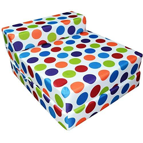 IKB Impermeable Z cama/silla sofá cama/plegable silla de invitados Z cama futón sofá para adultos y niños plegable colchón multicolor lunares