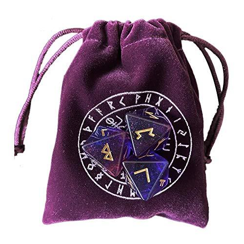 mementoy Tarot Karten Tasche Samt Beuteltasche Mit 3 Astrologischen Würfeln