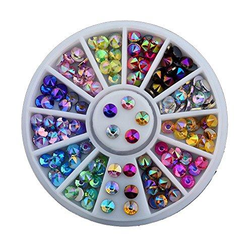 Unbekannt Set Strass Acryl Steine Strassteine Nageldesign Dekoration Fingernägel 12 Farben