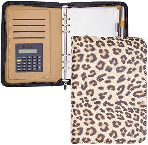 A5 Binder Planner Cover Zippered Mini Binder Leather Notebook Portfolio Small Binder 5 5 X 8 product image