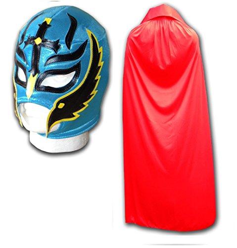 Son Of The Devil Adulto Luchador Mexicano Máscara de Lucha Libre & Rojas Capa